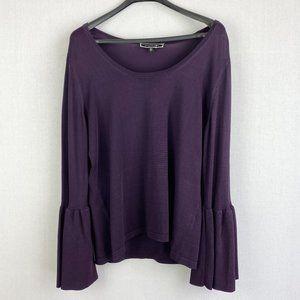 MELANIE LYNE Purple Wide Neck Sweater